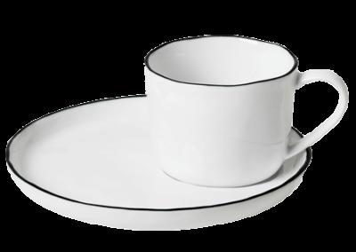 Cup w/Saucer Salt 10cl