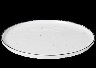 Dinner Plate w/Dots Salt