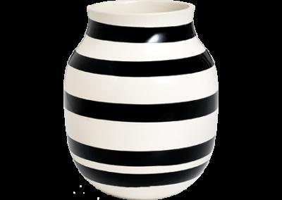 Omaggio Vase Black
