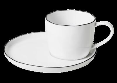 Cup w/Saucer Salt 15cl