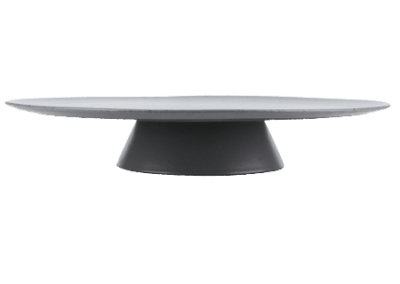 RAW Cake Stand Grey Spotted 34cm