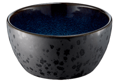 Bowl Matte Black/Shiny Dark Blue 12cm