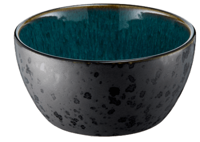 Bowl Matte Black/Shiny Green 12cm
