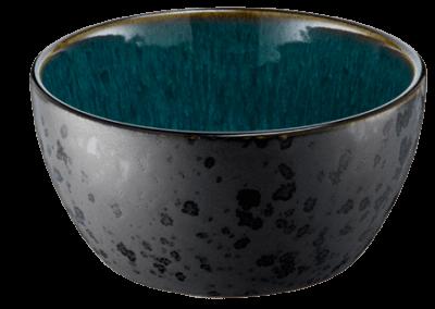 Bowl Matte Black/Shiny Green 12cm
