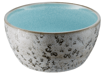 Bowl Matte Grey/Shiny Light Blue 12cm