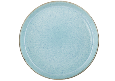 Gastro Plate Matte Grey/Shiny Light Blue 27cm