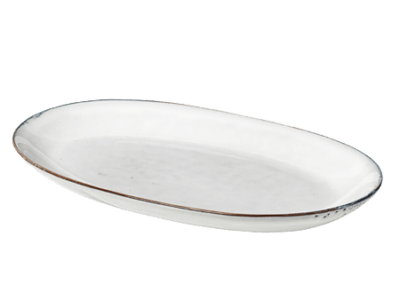 Plate Oval Nordic Sand Large