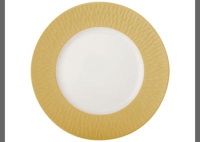 Boreal Satin Gold Rim Plate 22.5cm