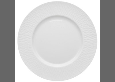 Boreal Satin Plate Wide Rim 28cm