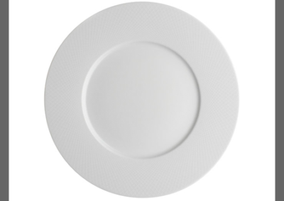Graphique White Plate Wide Rim 24cm