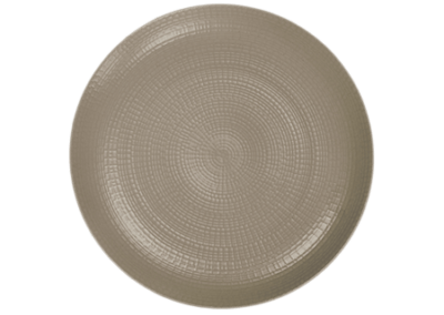 Modulo Nature Taupe Coupe Plate 28cm