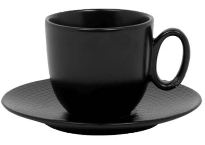 Modulo Nature Lava Stone Coffee/Tea Cup & Saucer