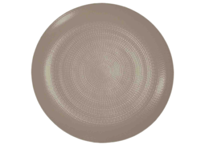 Modulo Nature Taupe Coupe Presentation Plate 31.5cm