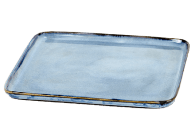 Square Plate Small Blue