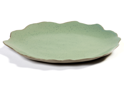 Dols & Martens Plate Green Dots 26cm
