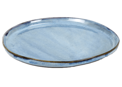 Round Plate Small Blue 19cm