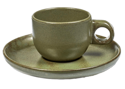 Surface Espresso Cup & Saucer Camo Green