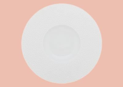 Perles de Rosée Shallow Bowl Wide Rim 30cm