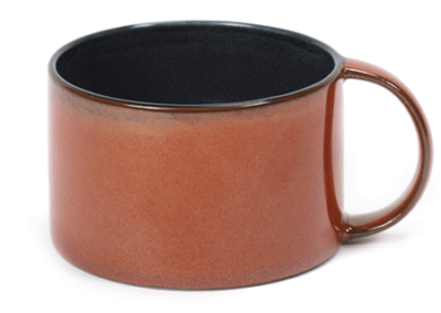 Coffee Cup Dark Blue/Rust 19cl