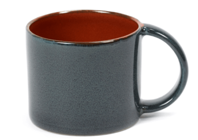 Espresso Cup Rust/Dark Blue 8.5cl