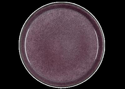 Gastro Plate Matte Black/Shiny Lilac 21cm