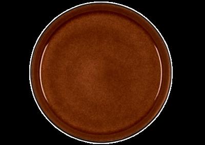 Gastro Plate Matte Black/Shiny Amber 21cm