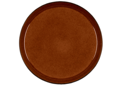 Gastro Plate Matte Black/Shiny Amber 27cm