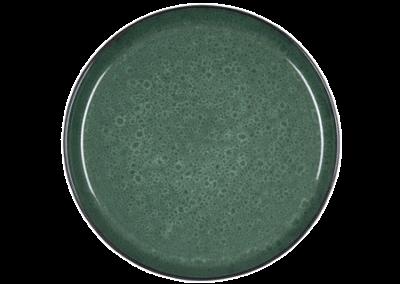 Gastro Plate Matte Black/Shiny Green 27cm