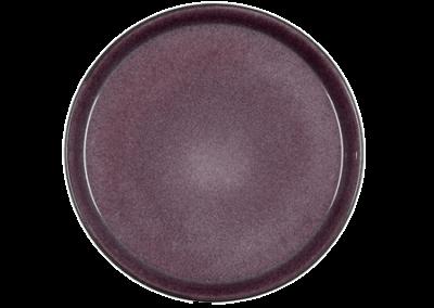 Gastro Plate Matte Black/Shiny Lilac 27cm