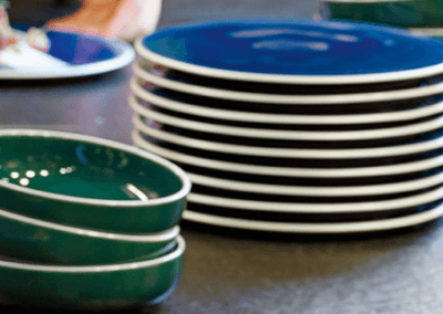 mondo-indigo-blue-plates-shisho-green-bowls-degrenne-paris